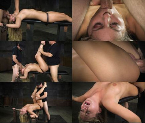 Beautiful cute looking blonde bondage sex